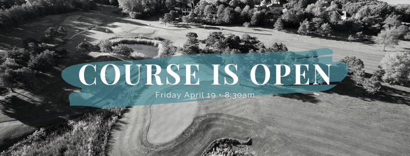 Course Is Open - River Oaks Golf Course - Cottage Grove
