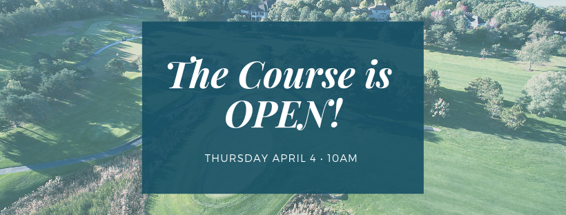 The Course Is Open - River Oaks Golf Course - Cottage Grove