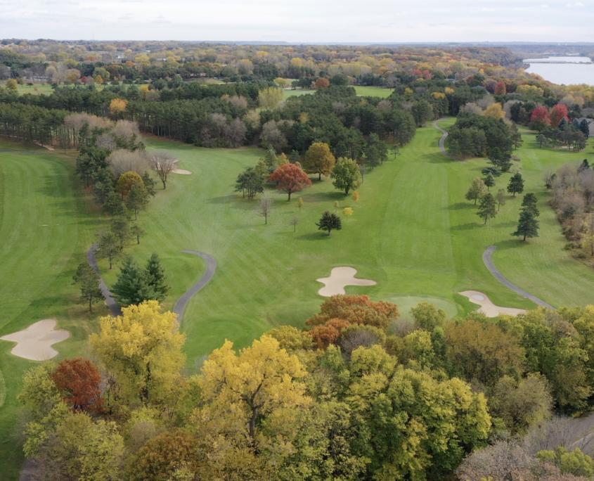 Drone Shot - River Oaks Golf Course - Cottage Grove